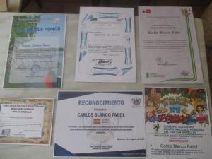 premios y diplomas